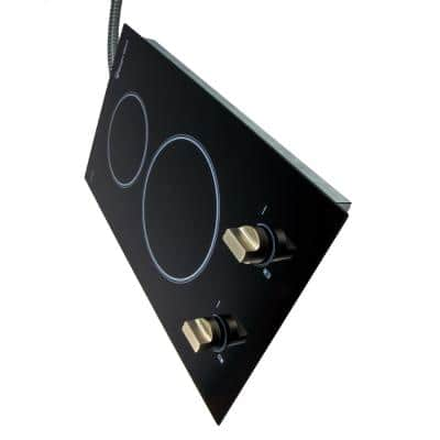 12 in. Radiant Electric Ceramic Glass Cooktop in Black with 2 Elements