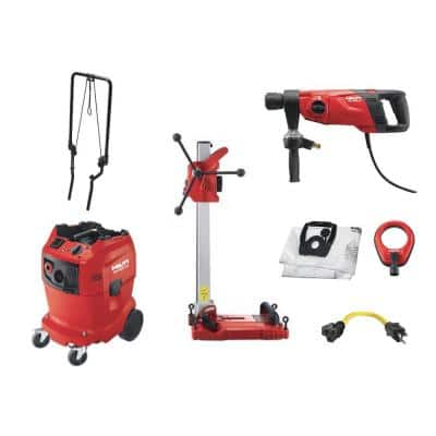 120-Volt DD 150-U BI 3-Speed Diamond Coring Rig Kit with Motor, Drilling Stand and Water Management System