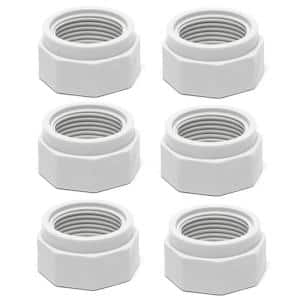 180 280 380 Swimming Pool Cleaner Feed Hose Nut Part in White (6-Pack)