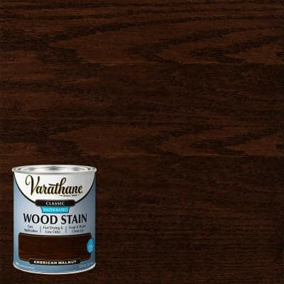 1 qt. Classic American Walnut Water-Based Interior Wood Stain (2-Pack)