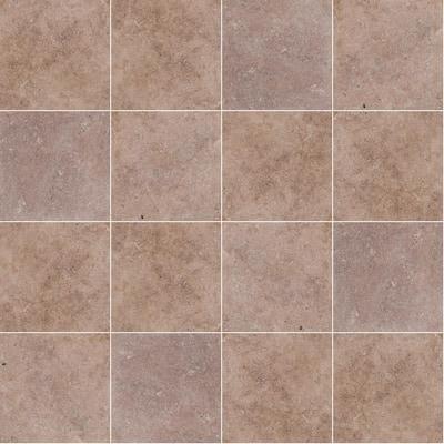 Take Home Tile Sample - Mediterranean Walnut 6 in. x 6 in. Tumbled Travertine Paver Tile (0.25 sq. ft.)