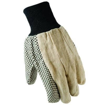 Large Dotted Cotton Canvas Gloves