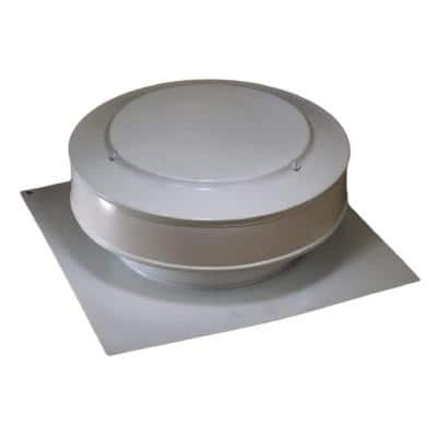 50 sq. in. NFA Aluminum Round Back Static Roof Vent in White