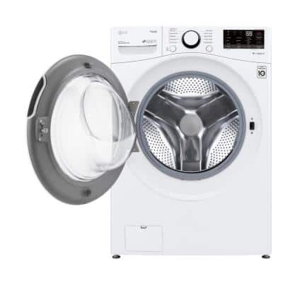 27 in. 4.5 cu. ft.Ultra Large Capacity White Front Load Washer with Steam and Wi-Fi Connectivity