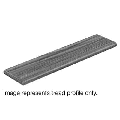 Glazed Oak / Soft Oak Glazed 47 in. L x 12-1/8 in. W x 1-11/16 in. T Laminate Left Return to Cover Stairs 1 in. Thick