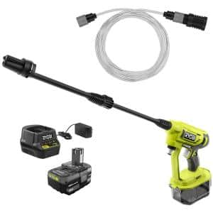 ONE+ 18-Volt 320 PSI 0.8 GPM Cold Water Electric Pressure Washer Cordless Power Cleaner Battery and Charger Included