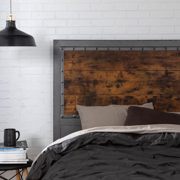 Walker Edison Furniture Company 48 In, Wood Iron Bedroom Furniture