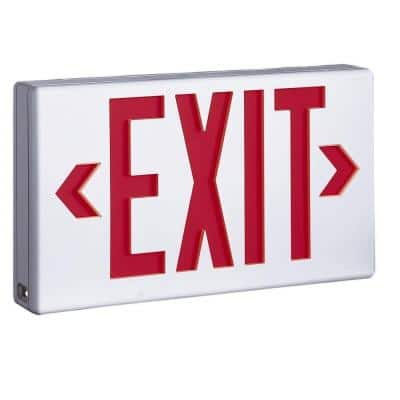 LPX 1.09 Watt White Integrated LED Exit Sign, Self-Powered