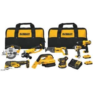 20-Volt MAX Cordless Combo Kit (8-Tool) with (2) 20-Volt 2.0Ah Batteries & Charger