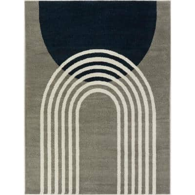 Gateway Taupe 5 ft. x 7 ft. Modern Arch Area Rug