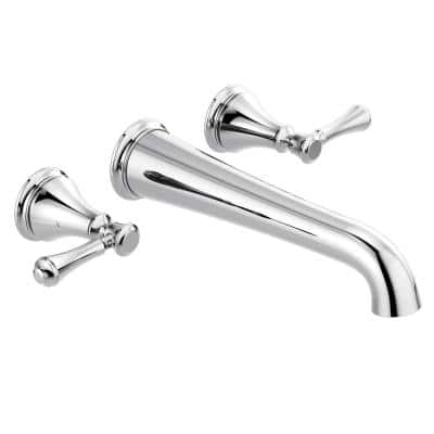 Cassidy 2-Handle Wall-Mount Tub Filler Trim Kit in Chrome (Valve Not Included)
