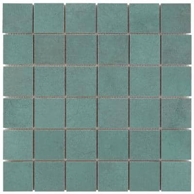 Forge Emerald 11.81 in. x 11.81 in. Matte Porcelain Floor and Wall Mosaic Tile (0.96 sq. ft./Each)