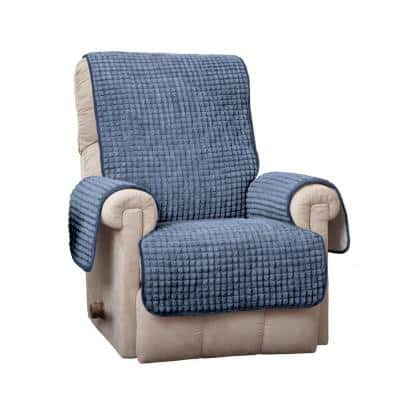 Puff Recliner/Wing Blue Furniture Protector