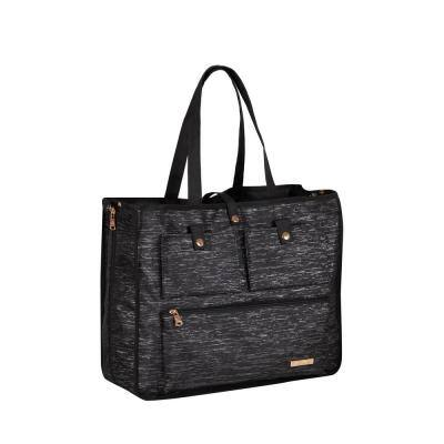 Jenni Chan Sparkle Black Reversible 2-in-1 Carry-All Tote