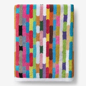 Sprinkles Multicolored Striped Cotton Bath Sheet