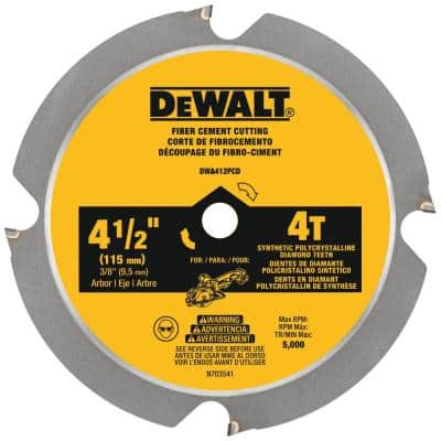 ATOMIC 4-1/2 in. 4-Tooth Fiber Cement Cutting Circular Saw Blade
