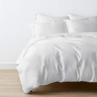 Legends Hotel White TENCEL Lyocell Sateen King Duvet Cover