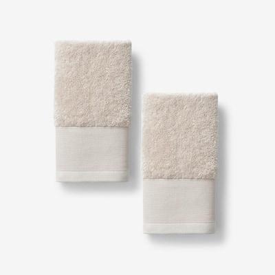 Organic Pumice Solid Cotton Fingertip Towel (Set of 2)