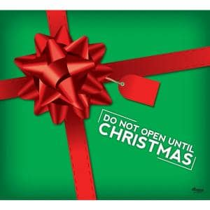 7 ft. x 8 ft. don't Open Until Christmas Garage Door Decor Mural for Single Car Garage