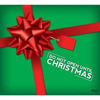 7 ft. x 8 ft. don't Open Until Christmas Garage Door Decor Mural for Single Car Garage