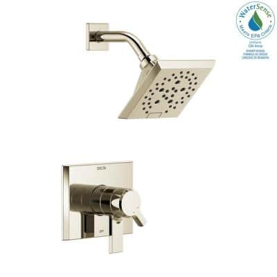 Pivotal 1-Handle Wall-Mount Shower Trim Kit with H2Okinetic Technology in Polished Nickel (Valve Not Included)