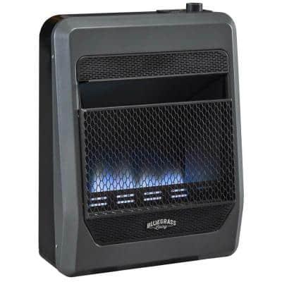 Bluegrass Living Propane Gas Vent Free Blue Flame Gas Space Heater With Blower and Base Feet - 20,000 BTU