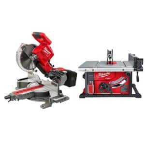 M18 FUEL 18-Volt Lithium-Ion Brushless 10 in. Cordless Dual Bevel Sliding Compound Miter Saw with 8-1/4 in. Table Saw