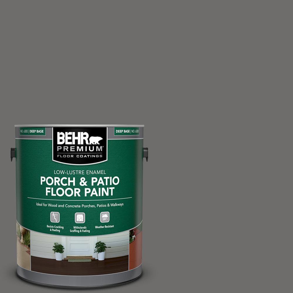 Behr Premium 1 Gal 780f 6 Dark Granite Low Lustre Enamel Interior Exterior Porch And Patio Floor Paint 630001 The Home Depot