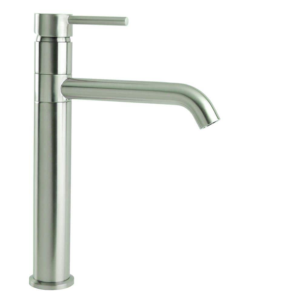 Single Hole Single Handle Swivel Arm Euro Vessel Bathroom Faucet In Brushed Nickel N88119a1 Bn The Home Depot