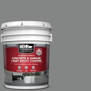 5 gal. Slate Gray Self-Priming 1-Part Epoxy Satin Interior/Exterior Concrete and Garage Floor Paint