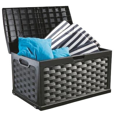 88 Gallon Plastic Deck Box, Black