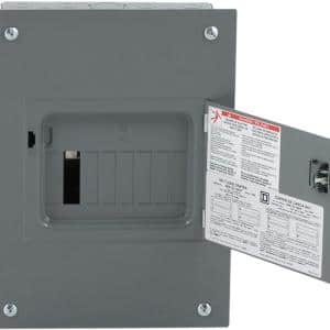 QO 100 Amp 8-Space 16-Circuit Indoor Flush Mount Main Lug Load Center with Cover, Door