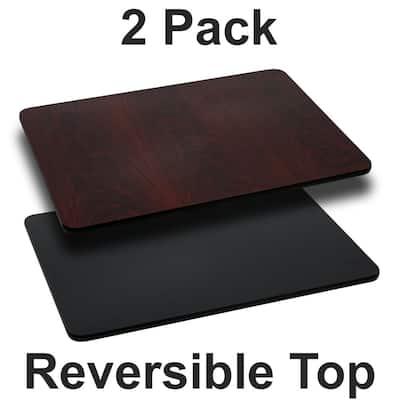 Black/Mahogany Table Top (Set of 2)