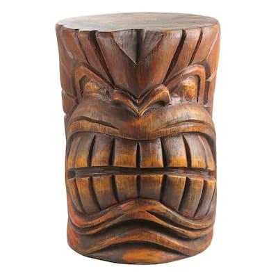 The Kanaloa (Teeth) Grand Tiki 20.5 in. H Sculptural Polyresin Outdoor Side Table