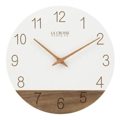 12 in. Sierra Wood Quartz Analog Wall Clock