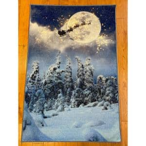 Winter Multi 31 in. x 49 in. Indoor Holiday Scatter