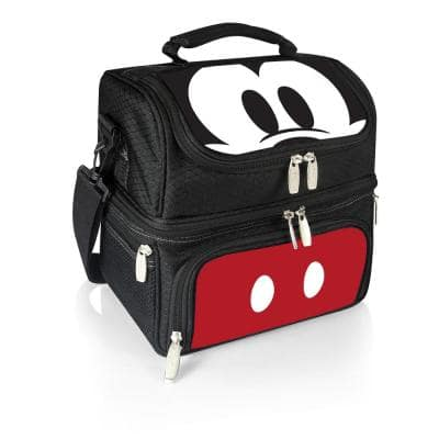 3 Qt. 8-Can Mickey Mouse Pranzo Lunch Tote Cooler in Black