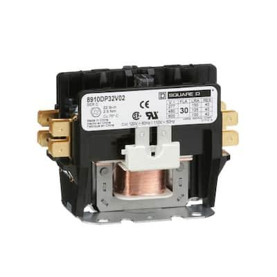 30 Amp 120-Volt AC 60 Hz 2-Pole Definite Purpose Contactor (4-Pack)