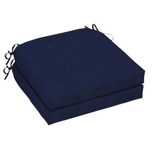 Oak Cliff 21 x 21 CushionGuard Midnight Outdoor Chair Cushion (2-Pack)