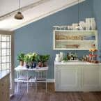 Ppg Diamond 1 Qt Ppg1153 5 Chalky Blue Semi Gloss Interior Paint With Primer Ppg1153 5d 04sg The Home Depot