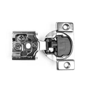 105-Degree 1/2 in. (35 mm) Overlay Soft Close Face Frame Cabinet Hinges with Installation Screws (5-Pairs)