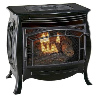 Duluth Forge Dual Fuel Ventless Gas Stove, Gloss Finish, Remote Control - Model FDSR25-GF