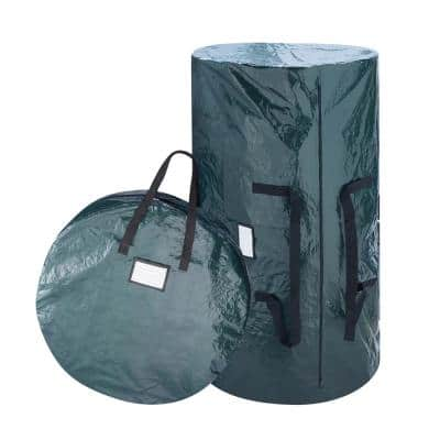 Large Deluxe Christmas Tree Storage Bag and 30 in. Wreath Bag Combo Pack in Green