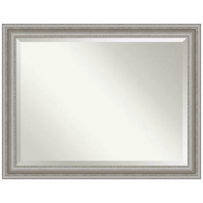 Parlor Silver 45.5 in. x 35.5 in. Bathroom Vanity Mirror