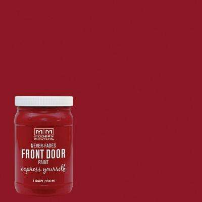 Express Yourself 1 qt. Satin Sophisticated Red Water-Based Front Door Paint