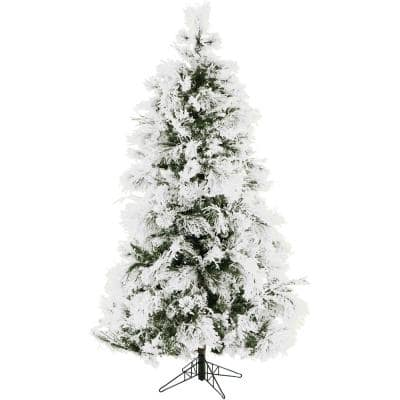 6.5 ft. Frosted Fir Snowy Artificial Christmas Tree
