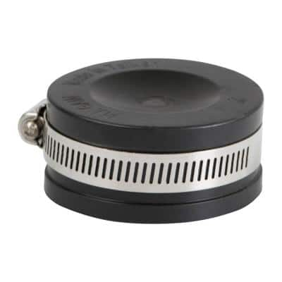 1-1/2 in. Pvc Flexible Pipe Cap with Stainless Steel Clamps