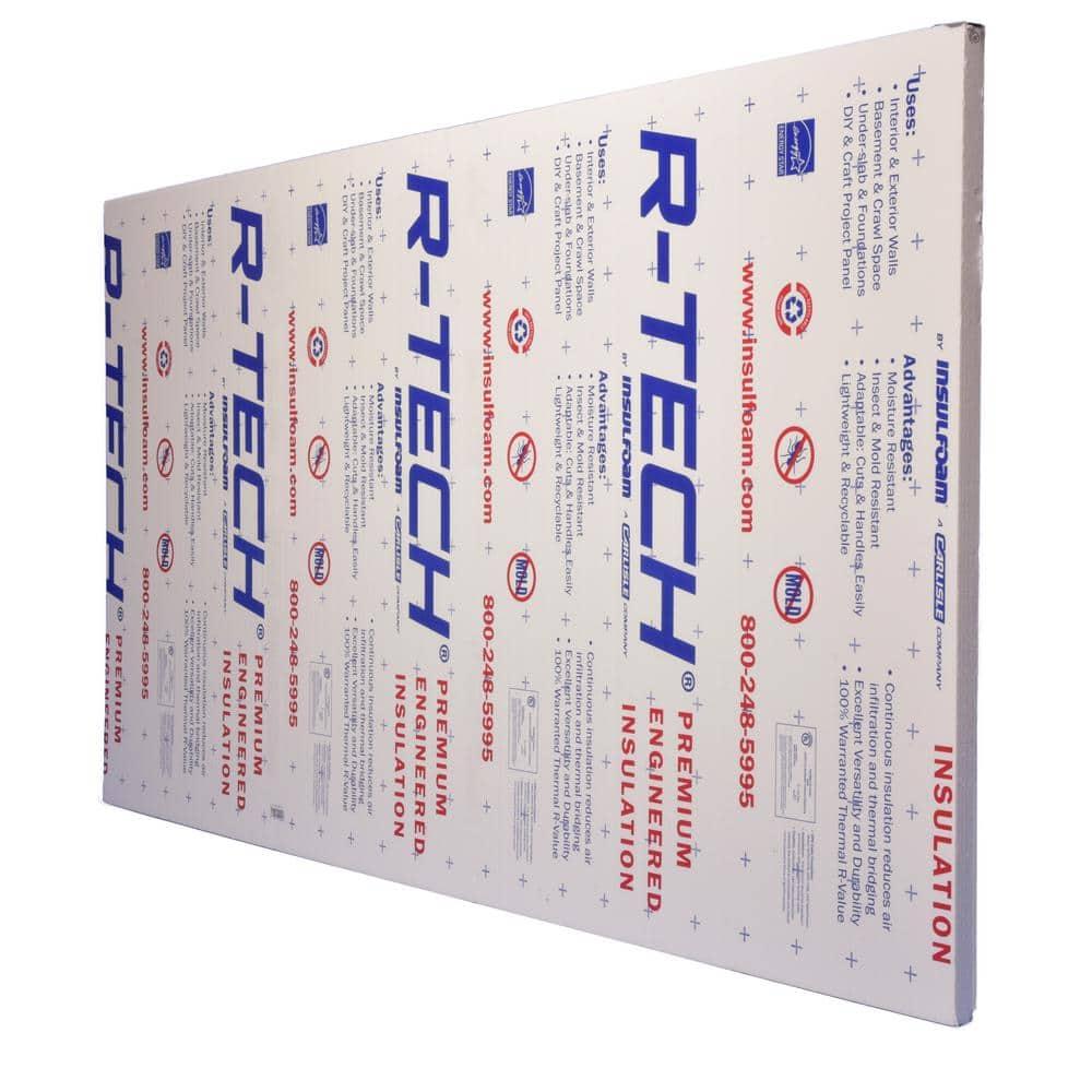 R-Tech 2 in. x 4 ft. x 8 ft. R-7.7 Rigid Foam Insulation