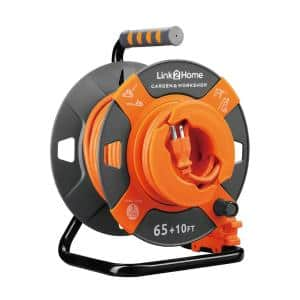 75 ft. 14/3 Extension Cord Storage Reel with Heavy Duty High Visibility Power Cord