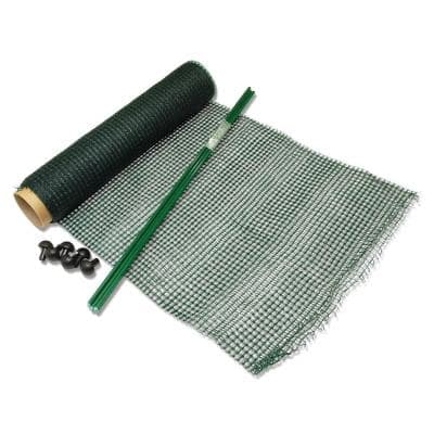 24 in. Plastic Garden Fence with Pocket-Net Technology